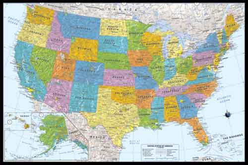 Giant Poster Maps - Giant us map